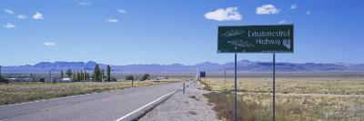 Empty Road Running through a Landscape, Route 375, Extraterrestrial Highway, Nevada, USA--Photographic Print