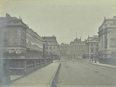 Empty Streets at Lancaster Place, Seen from Waterloo Bridge, London, 1896--Photographic Print