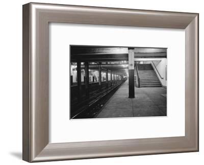 Empty Subway Station at 181st Street--Framed Photographic Print
