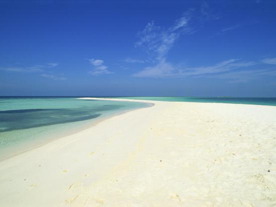 Empty Tropical Beach in the Maldive Islands, Indian Ocean-Harding Robert-Photographic Print