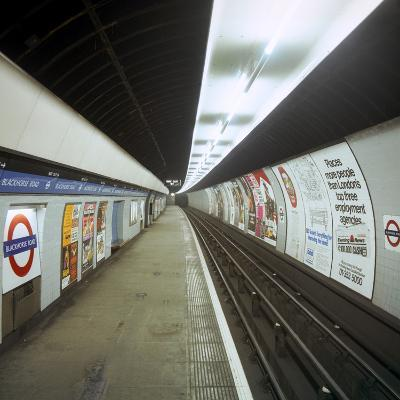 Empty Tube Station, Blackhorse Road on the Victoria Line, London, 1974-Michael Walters-Photographic Print
