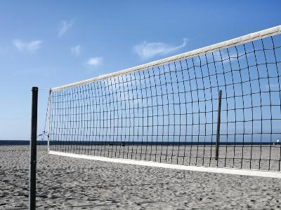 Empty Volleyball Field on the Beach-Frank Rothe-Photographic Print