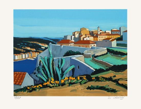 En Méditerranée : paysage à Bonifacio-Jean Claude Quilici-Limited Edition
