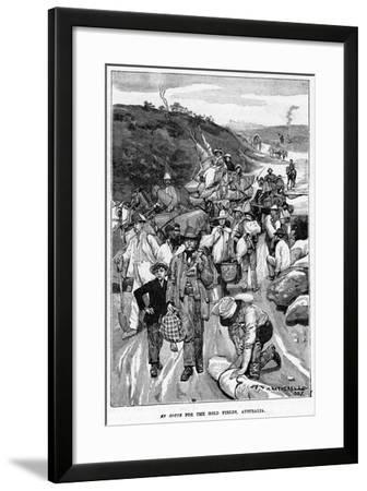 En Route for the Gold Fields, Australia, 1887-William Hatherell-Framed Giclee Print