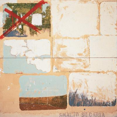 Enamel on Paper-Mario Schifano-Giclee Print