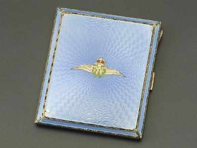 Enameled Silver Cigarette Case for Women with Coat-Of-Arms of Royal Air Force--Giclee Print