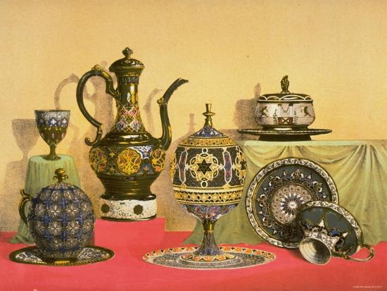Enameled Ware on Silver in the Moorish Style by C. Cristofle and Company--Photographic Print