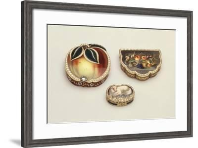 Enamelled Gold Tobacco and Smelling Salts Boxes--Framed Giclee Print