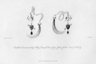 Enamelled Jewel Presented by Mary Queen of Scots, to George Gordon, 16th Century-CJ Smith-Giclee Print