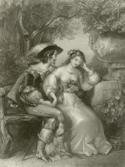 Enamoured Days-Edward Henry Corbould-Giclee Print