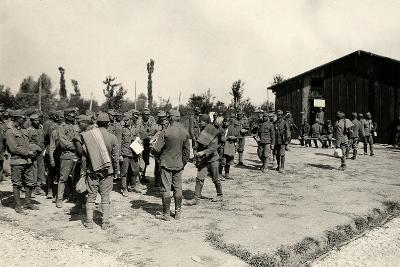 Encampment of Austrian Prisoners in Bagnaria Arsa-Ugo Ojetti-Photographic Print