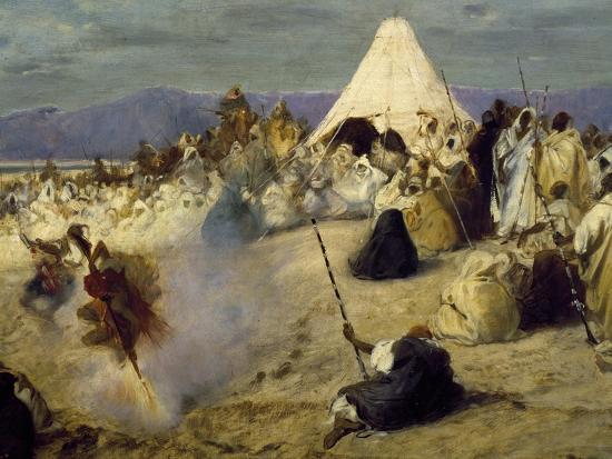 Encampment of Nomadic Bedouins-Stefano Ussi-Giclee Print