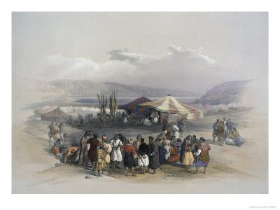 Encampment of Pilgrims at Jericho-David Roberts-Giclee Print