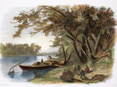 Encampment of the Travellers on the Missouri-Karl Bodmer-Giclee Print