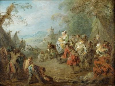 Encampment (Soldiers' Hal)-Jean-Baptiste Pater-Giclee Print