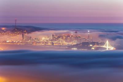 Encased, Fog Surrounding San Francisco Epic Cityscape Urban Globe-Vincent James-Photographic Print