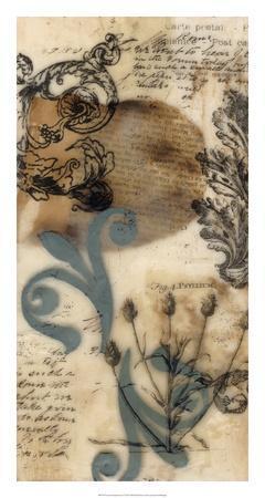Encaustic Ephemera I-Jennifer Goldberger-Giclee Print