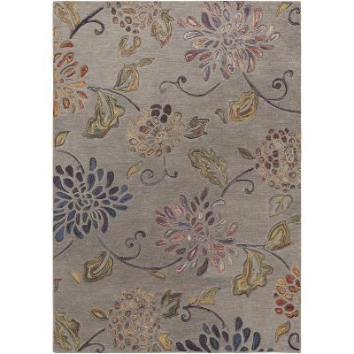 Enchanted Area Rug - Taupe/Mauve 5' x 8'--Home Accessories