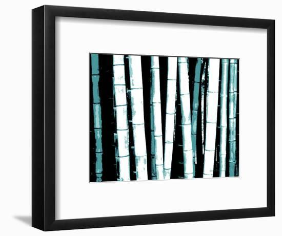 Enchanted Bamboo Teal-Herb Dickinson-Framed Art Print
