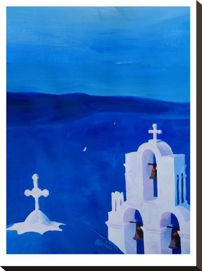 Enchanting Santorini Greece View-M Bleichner-Stretched Canvas Print