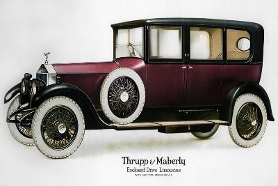 Enclosed Drive Rolls-Royce Limousine with Partition Behind the Driver, C1910-1929--Giclee Print