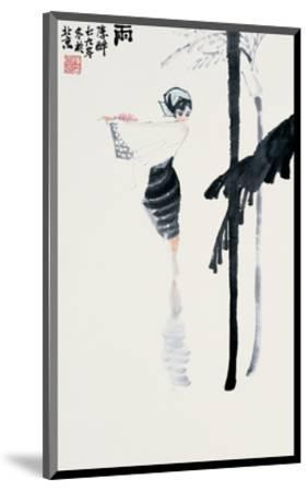 Encountering the Rain-Zui Chen-Mounted Premium Giclee Print