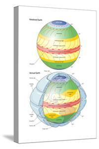 Global Circulation Patterns Diagram. Atmosphere, Climate, Weather, Earth Sciences by Encyclopaedia Britannica