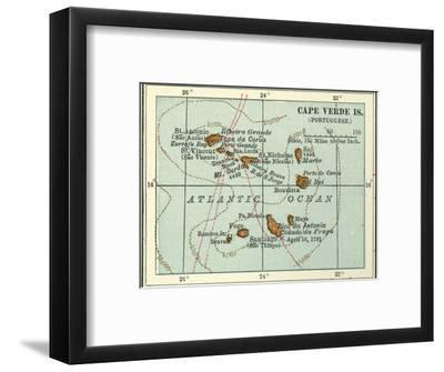 Inset Map of Cape Verde Islands (Portuguese)