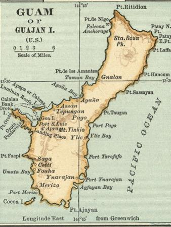 Inset Map of Guam or Guajan Island (Us) by Encyclopaedia Britannica