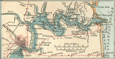 Jacksonville Florida Map.Beautiful Maps Of Jacksonville Fl Artwork For Sale Posters And