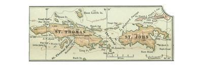 Inset Map of Saint Thomas and St. John Islands