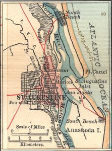Inset Map of St. Augustine, Florida by Encyclopaedia Britannica
