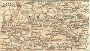 Inset Map of the Catskill Mountains, New York by Encyclopaedia Britannica