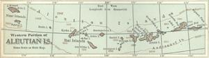 Inset Map of the Western Portion of the Aleutian Islands. Alaska by Encyclopaedia Britannica