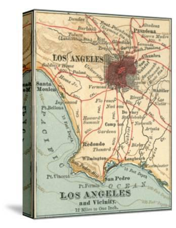 Los Angeles and Vicinity (C. 1900), from the 10th Edition of Encyclopaedia Britannica, Maps