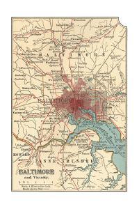 Map of Baltimore (C. 1900), Maps by Encyclopaedia Britannica