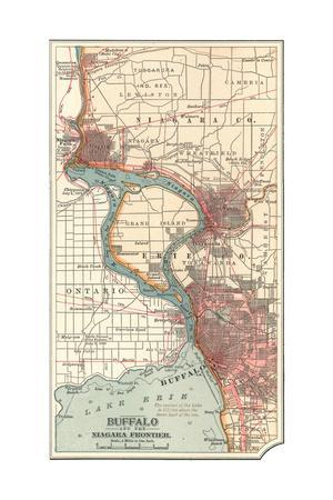 Map of Buffalo and the Niagara Frontier (C.1900)