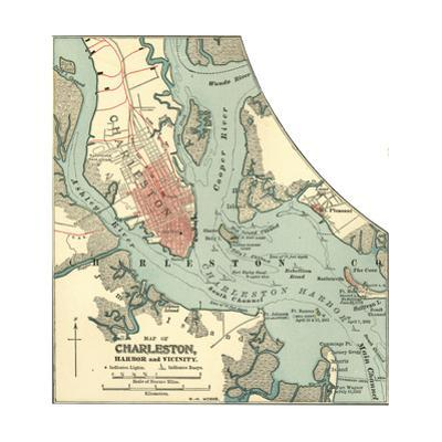 Map of Charleston (C. 1900), Maps by Encyclopaedia Britannica