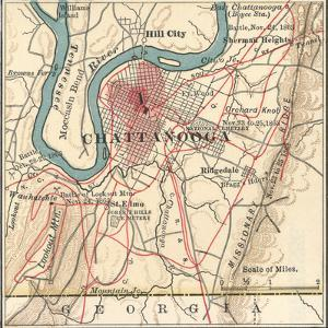 Map of Chattanooga (C. 1900), Maps by Encyclopaedia Britannica