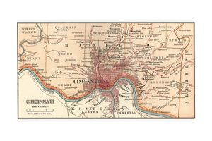 Map of Cincinnati, Ohio (C. 1900), Maps by Encyclopaedia Britannica