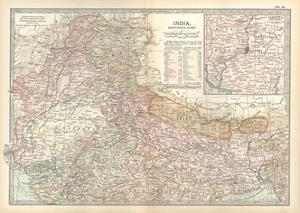 Map of India, Northern Part. Inset of Calcutta and Vicinity by Encyclopaedia Britannica