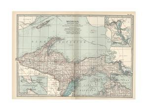 Map of Michigan, Northern Part by Encyclopaedia Britannica