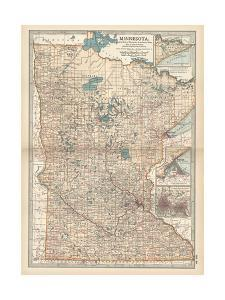 Map of Minnesota by Encyclopaedia Britannica