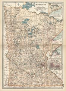 Map of Minnesota by Encyclopaedia Britannica