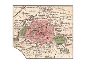 Map of Paris (C. 1900), Maps by Encyclopaedia Britannica