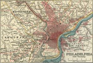 Map of Philadelphia (C. 1900), Maps by Encyclopaedia Britannica