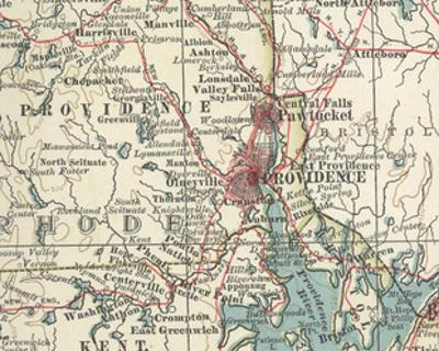 Map of Providence (C. 1900), Maps by Encyclopaedia Britannica