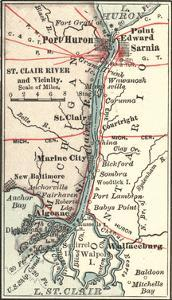 Map of Saint Clair River by Encyclopaedia Britannica