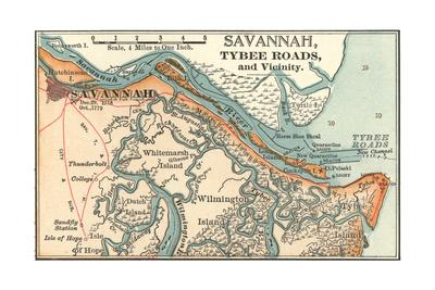 Map of Savannah (C. 1900), Maps