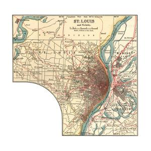 Map of St. Louis (C. 1900), Maps by Encyclopaedia Britannica